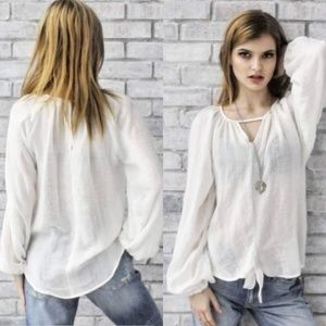 🐼FINAL PRICE🐼 NWT~ Soft Boutique Peasant Blouse